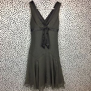 XXI Black and White Polka Dot Silk Dress Size M